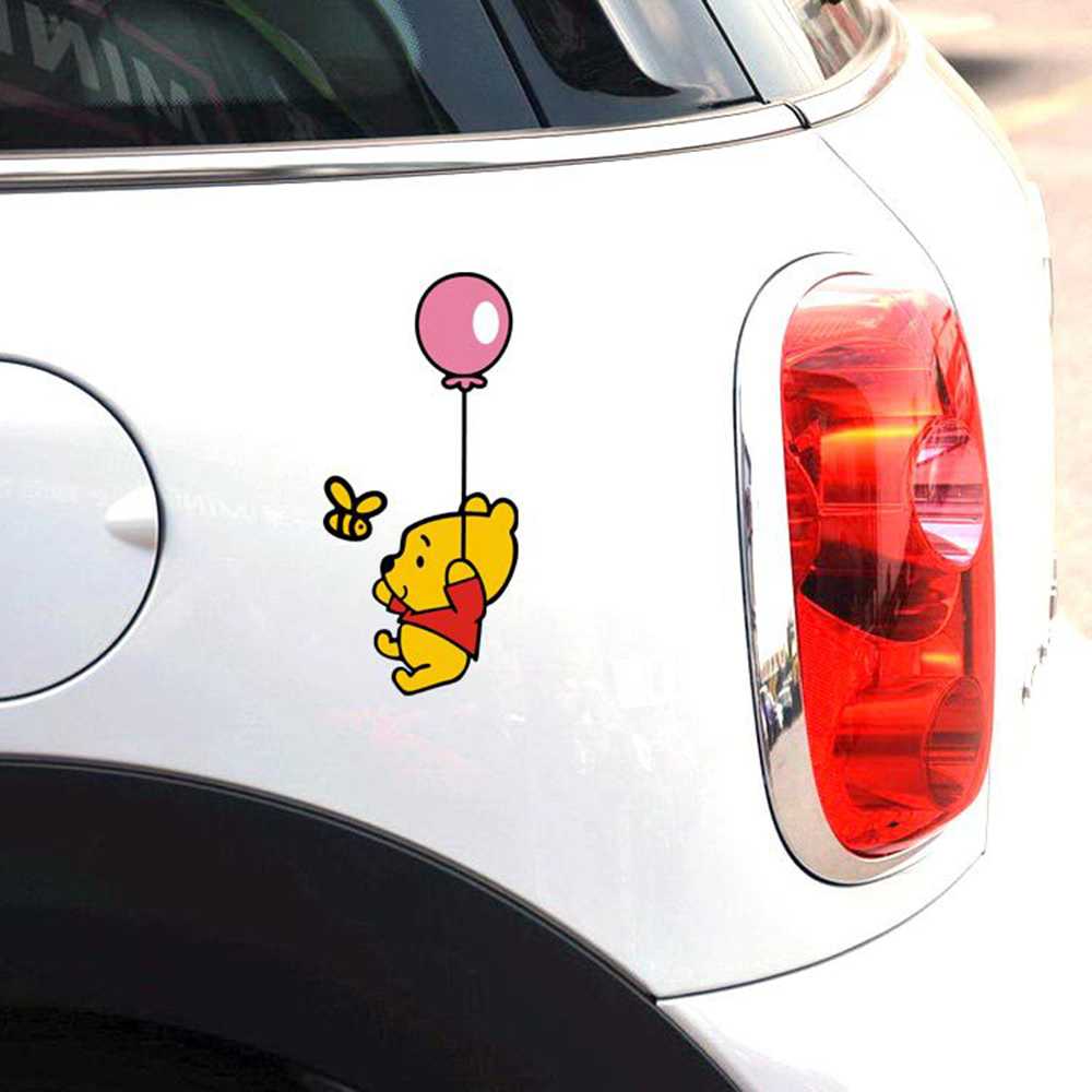Aliauto Araba Aksesuarları Güzel Karikatür Winnie Havuz Almak Bir Balon Ford Focus Için araba Sticker Ve Çıkartması Vw Golf Honda Nissan
