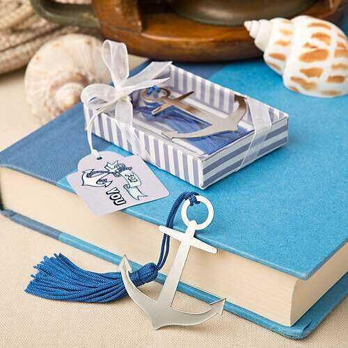 wedding party Favor Ocean Themed nautical themed anchor bookmark party gifts 100pcs/lot