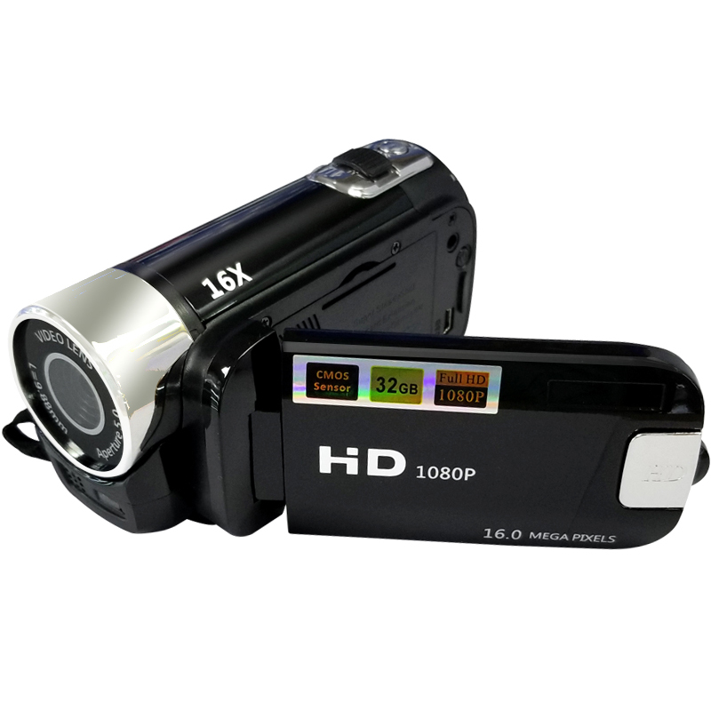 16X Dijital Zoom 2.7 Inç TFT LCD HD 1080 P 16MP Dijital Video Kamera Anti-shake dijital kamera DV Video Kaydedici kamera CMOS